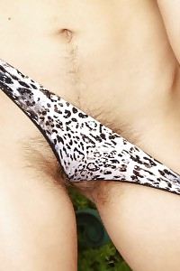 Dallas Cannot Wait No Longer To Flaunt Off Her Leopard Panties In The Backyard