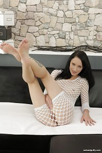 Dildo Play In Both Holes For Dark Haired Beautiful