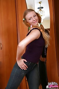 Braided Lady Can Barely Take Off Her Jeans Over Her Good-looking Ass